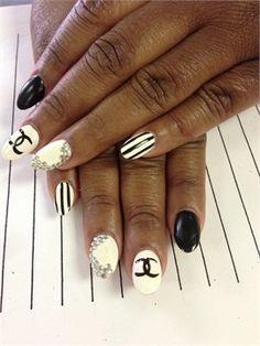 Day 24: Chanel Nail Art ww.nailsmag.com