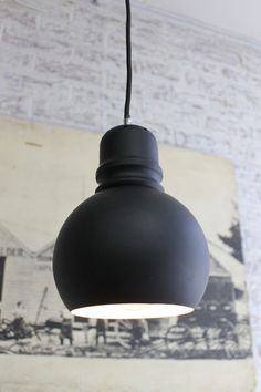 Bulb Pendant Light with braided light cord in grey and black finishes - Fat Shack Vintage - Fat Shack Vintage
