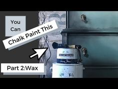 Old furniture ideas How to Seal Chalk Paint with Wax Sealing Chalk Paint, Chalk Paint Brushes, Black Chalk Paint, Using Chalk Paint, Chalk Paint Furniture, Furniture Ideas, Tape Painting, Marble Painting