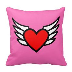 #heart with #wings #zazzle #pillow