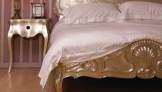 French Silver Rococo Bed  from Out There Interiors