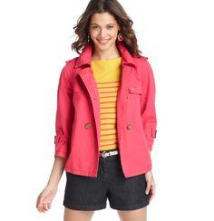 Loft - Women's Petite Jackets: Petite Women's Coats, Blazers, Outerwear: LOFT - Petite Cargo Twill Swing Mini Trench