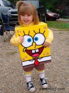 Bob sponge costume, carnival for kids - Disfraz bob esponja, carnaval para niños