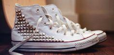 Studded converse!!
