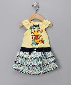 Take a look at this Yellow Pooh Ruffle Dress - Toddler by Winnie the Pooh on #zulily today!