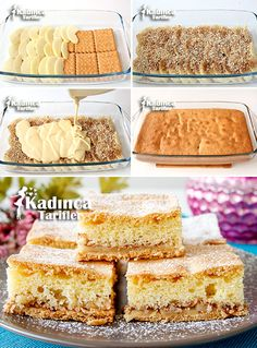 Biscuit Apple Cake Recipe, How to Make - Rezepte 2019 Apple Cake Recipes, Pie Recipes, Sweet Recipes, Mousse Au Chocolat Torte, Biscuits, Foundant, Most Delicious Recipe, Turkish Recipes, Vanilla Cake