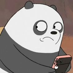When me and Adrianna texts Lydia in hour and her phone goes off. Panda Love, Cute Panda, Bear Meme, We Bare Bears Wallpapers, We Bear, Bear Wallpaper, Cartoon Profile Pictures, Cartoon Icons, Cute Memes