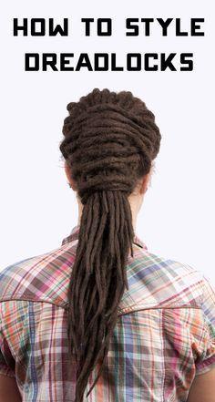 How To Style Dreadlocks, Ways To Style Dreadlocks, Hair Braiding Styles, Dread Extensions, Dreads Lock Styles, Natural Hair, How To Style Locs, Easy Dreadlock Styles