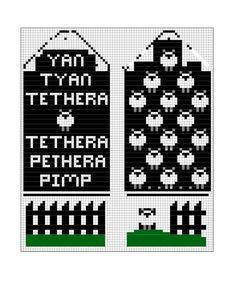 Not a clue what that says but the sheep are cute Knitted Mittens Pattern, Fair Isle Knitting Patterns, Knit Mittens, Knitting Charts, Knitting Socks, Knitting Stitches, Hand Knitting, Tapestry Crochet, Crochet Chart