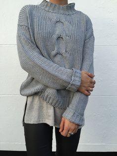 Azalia Boutique - 566 She Knows Jumper - Grey
