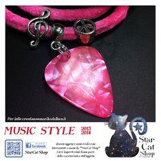 Guitar Pick Music Bracelet (also on Etsy)