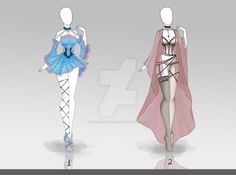 (CLOSED) Adoptable Outfit- 034 by butterjellyfish on DeviantArt : (CLOSED) Adoptable Outfit- by butterjellyfish Clothing Sketches, Dress Sketches, Dress Drawing, Drawing Clothes, Fashion Design Drawings, Fashion Sketches, Anime Outfits, Cool Outfits, Anime Dress