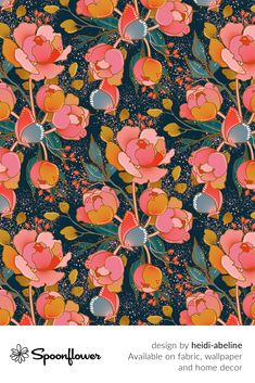 #Customize your own home decor, #wallpaper and #fabric at Spoonflower. Shop your favorite indie designs on #fabric, #wallpaper and home decor products on Spoonflower, all printed with #eco-friendly inks and handmade in the United States. #patterndesign #textildesign #pattern #digitalprinting #homedecor Watercolor Pattern, Watercolor Flowers, Fabric Wallpaper, Floral Designs, Own Home, Blue Backgrounds, Custom Fabric, Spoonflower, Peonies
