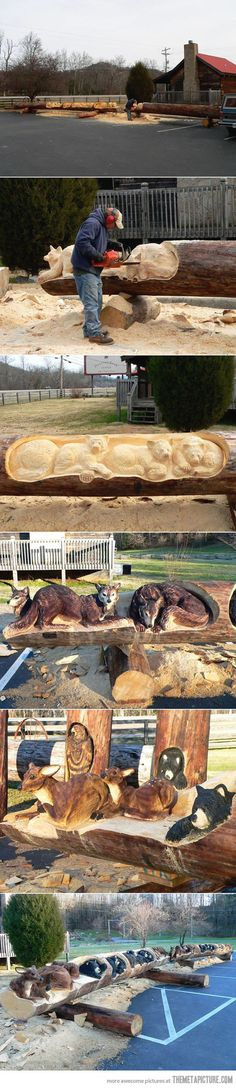 Art with a chainsaw…