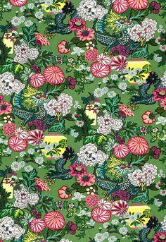 Fabric | Chiang Mai Dragon in Jade | Schumacher