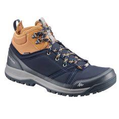 1b67b4e436b9b Chaussures de randonnée nature NH150 mid imperméable bleu marron homme  QUECHUA