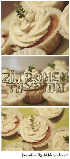 Zitronenthymian Cupcakes Cupcakes, Lemon, Koken, Rezepte, Cup Cakes, Cupcake, Cupcake Cakes, Muffins