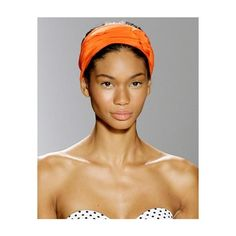 Chanel Iman ❤ liked on Polyvore featuring models, chanel iman, faces, photos and orange