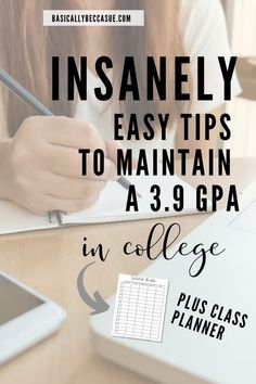 These tips are so easy and helpful for college students to raise their gpa in college. Girl College Dorms, College Hacks, College Students, College Club, College School, School Tips, College Packing Checklist, College Survival Guide, College Essentials