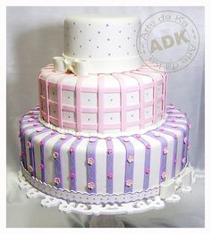 Pink and lilac cake