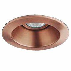 4 Line Voltage Recessed Lighting Reflector Trim Copper