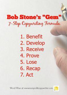 Bob Stone's Copywriting Formula with Word Wise at Nonprofit Copywriter Creative Writing Jobs, Online Writing Jobs, Easy Writing, Freelance Writing Jobs, Writing Resources, Start Writing, Writing Practice, Writing Tips, Making Words