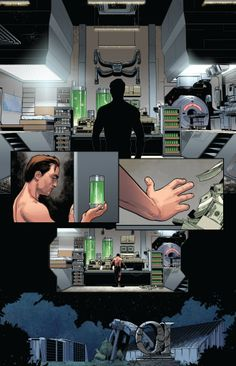 Norman Osborn gets reacquainted with his serum in Miles Morales: Ultimate Spider-Man Spider Man Series, Spider Man 2, Comic Books Art, Comic Art, Book Art, Marvel Dc, Marvel Comics, Norman Osborn, The Sinister Six