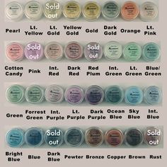 A rainbow of colors for resin jewelry!  Resin Obsession - Alumidust colored powders