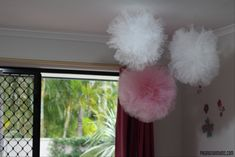 DIY Tulle PomPom - perfect party or kids room decoration -