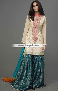Brilliant Gharara Dress for Evening and Formal Occasions Brilliant gharara dress is rich and sensible for i