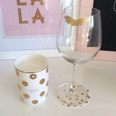 Gold Lip Stain Wine Glass Tutorial