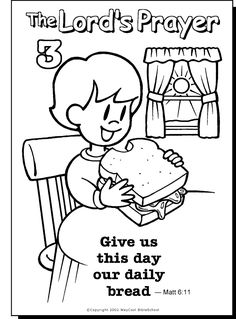 The Lords Prayer Coloring Page 3