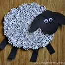 Styrofoam Pebbles Lamb/Sheep Craft (from I Heart Crafty Things)