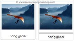 2. Air Transportation - Montessori 3-Part Classified Cards - Printable Montessori Learning Materials for home and school.