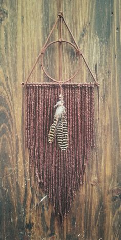 Deathly Hallows Inspired dream catcher  by TheWanderingFeather