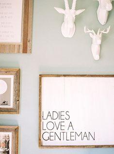 ladies love a gentleman - cute wall art for a baby boy's nursery