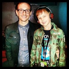 Chester from Linkin Park and His son looking cool in our LSTN headphones