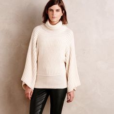Anthropologie Interplanar Turtleneck Anthropologie Interplanar Turtleneck bnwt! Bell sleeves and knit make this cowl neck/ turtleneck the best sweater I own! Somehow it's incredibly sexy! SOLD OUT! Absolutely no returns! Ask me questions I didn't answer🙂 in my opinion this can fit large and extra large- they aren't making it like this these days - it's gorgeous . Luxurious and rich✨ Anthropologie Sweaters Cowl & Turtlenecks