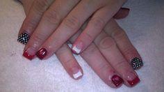 Valentines gel nails