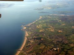 Ardrossan aerial Firth of Clyde