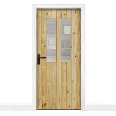 puerta interior rstica en madera maciza de pino