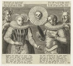 Spotprent op de stijve plooikraag, ca. 1600, Anonymous, 1600 - 1624