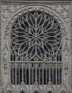 """Casanova, on his death bed, was reputed to remark, """"I lived a philosopher. I died a Christian."""" One admires an image like this and wonders if such a thing could exist if not divinely inspired? Roosvenster kathedraal Amiens #gothicarchitecture"""