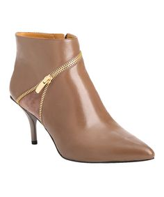 This Charly Amar Oat Mountain Leather Bootie by Charly Amar is perfect! #zulilyfinds