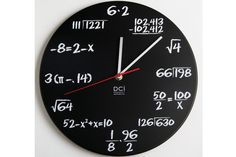 Objetos locos: relojes originales  Para los más intelectuales, un reloj que dice la hora con cuentas matemáticas.  /wallpapersak.com
