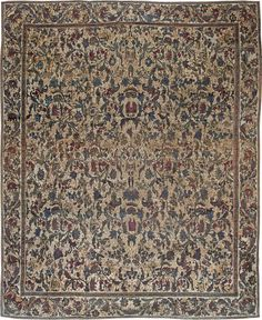 Antique Indian Rug with gold ornaments. Interior decor with antique ornamental rug #rug #interior #decor