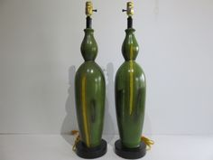 Pair Of Hand Painted Mid-Century Modern Table Lamps. by FLORIDAMODERN on Etsy