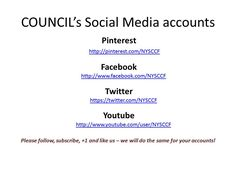 Follow NYSCCF today!