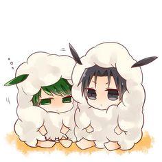 Kuroko no Basuke | Midorima Shintarou x Kazunari Takao | MidoTaka ♥ | chibi | sheep