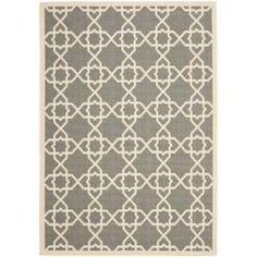 Poolside Grey/ Beige Indoor Outdoor Rug (6'7 x 9'6) | Overstock.com Shopping - Great Deals on Safavieh 5x8 - 6x9 Rugs